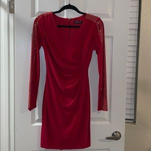 Red Guess holiday dress